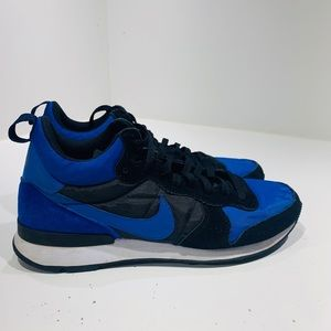 Nike  Mid Mens Royal Black Running Shoes Size 11